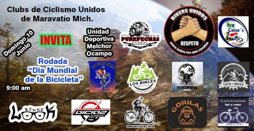 Rodada con motivo al Día Mundial de la Bicicleta