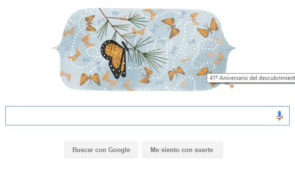 """Google dedica su """"doodle"""" al Santuario de la Mariposa Monarca"""