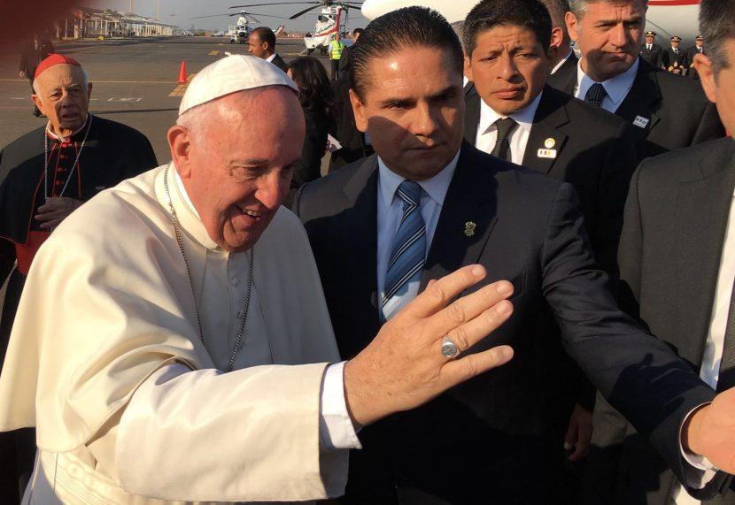 Llega el Papa Francisco a Morelia