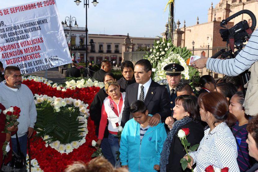 Recuerdan a las victimas de los granadazos en Morelia