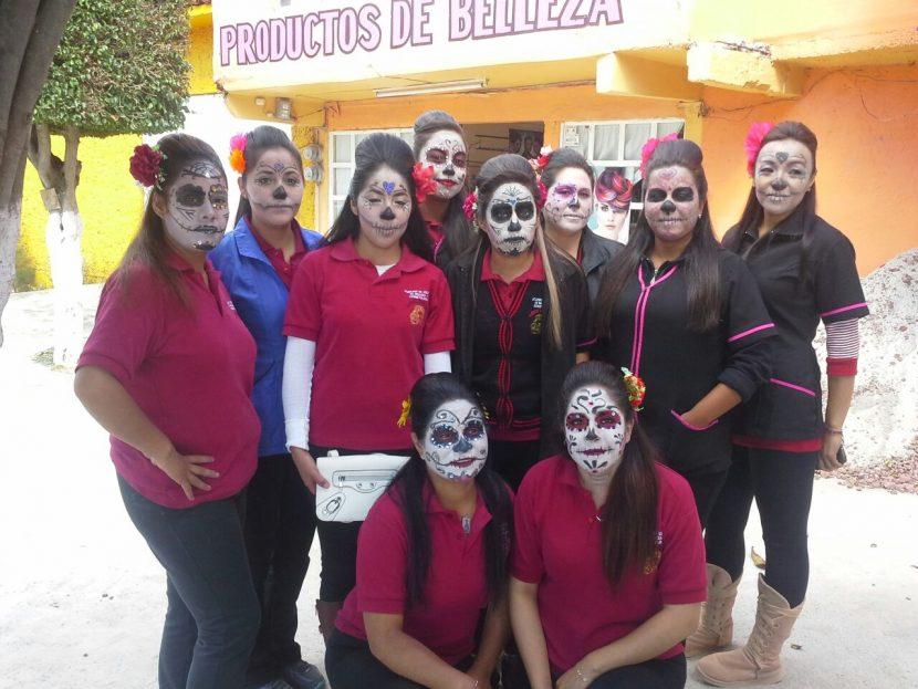 Maquillaje, peinado y caracterización para Día de Muertos por Academía Dennis