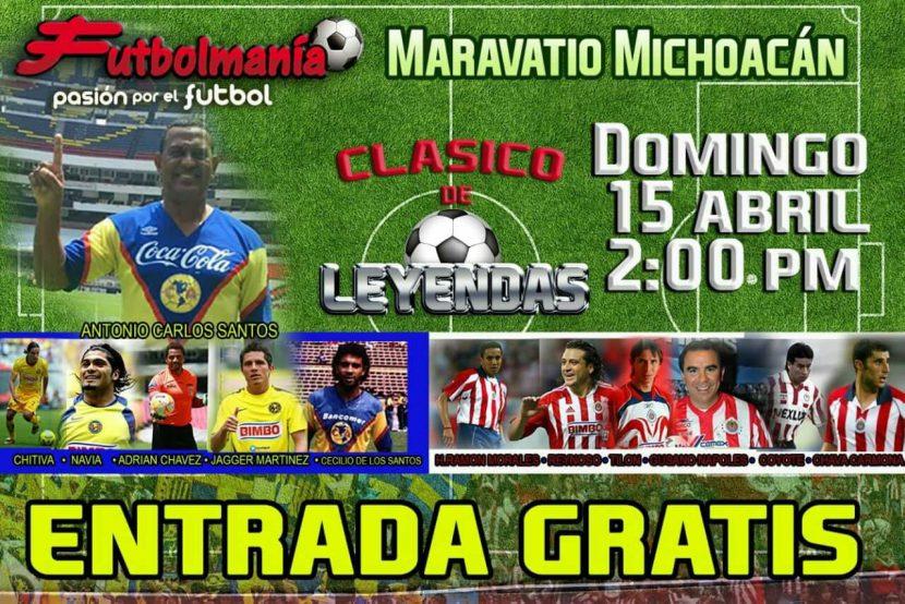 Futbolmanía: clásico de leyendas en Maravatío