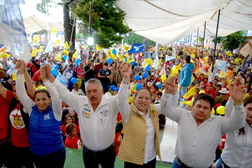 Jaime Hinojosa Campa cierra campaña en la tenencia de San Miguel Curahuango