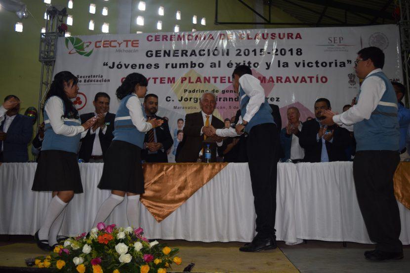 Egresan Generación 2015-2018 del CECyTE 28 plantel Maravatío
