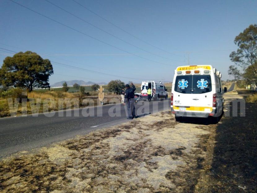 Volcadura en la carretera Maravatio – Acámbaro deja un lesionado