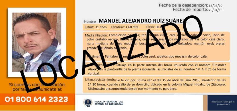Ubican a un desaparecido michoacano en la V Caravana Internacional de Búsqueda