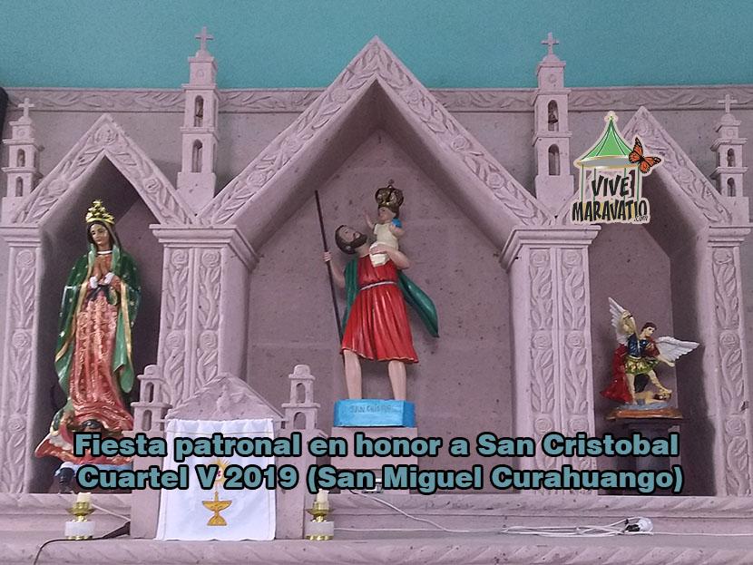 Fiesta patronal en honor a San Cristobal Cuartel V 2019 (San Miguel Curahuango)