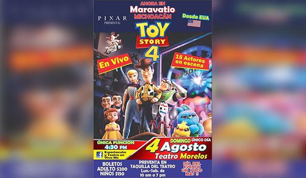 """Llega a Maravatío """"Toy Story 4"""" En Vivo"""