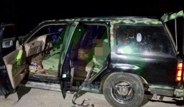 Encuentran a 5 hombres sin vida dentro de una camioneta, en Ciudad Hidalgo