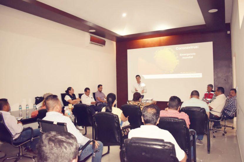 Funcionarios del Ayuntamiento de Maravatío reciben capacitación sobre prevención del COVID-19