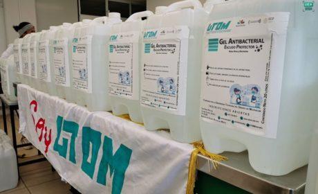 UTOM elabora 1000 litros de gel antibacterial para la contingencia del COVID-19