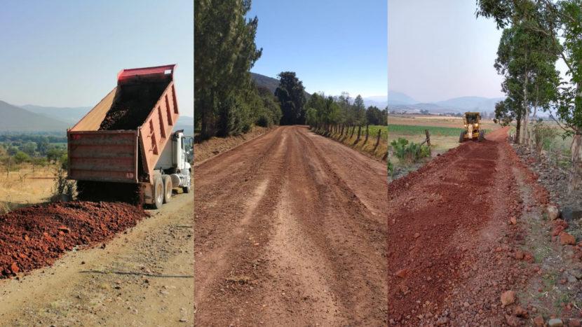 Ayuntamiento de Maravatío continua con la rehabilitación de caminos rurales y saca cosechas