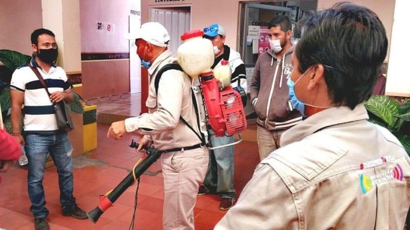 Brigadas del Ayuntamiento de Maravatío se capacitan para sanitizar espacios públicos