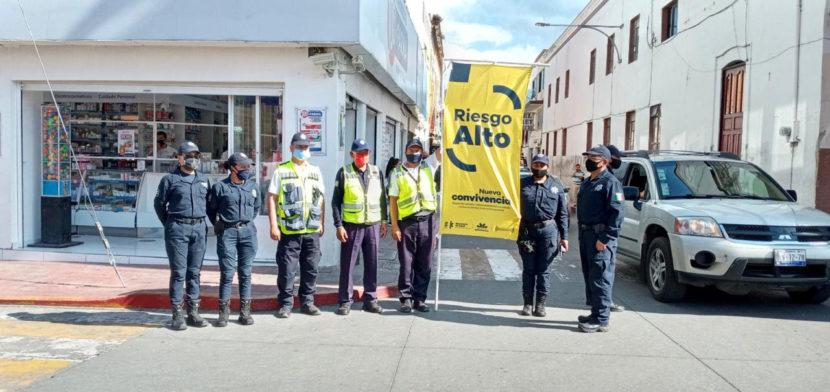 Instalan Bandera Amarilla en Ciudad Hidalgo ante alto riesgo de contagio de Covid-19