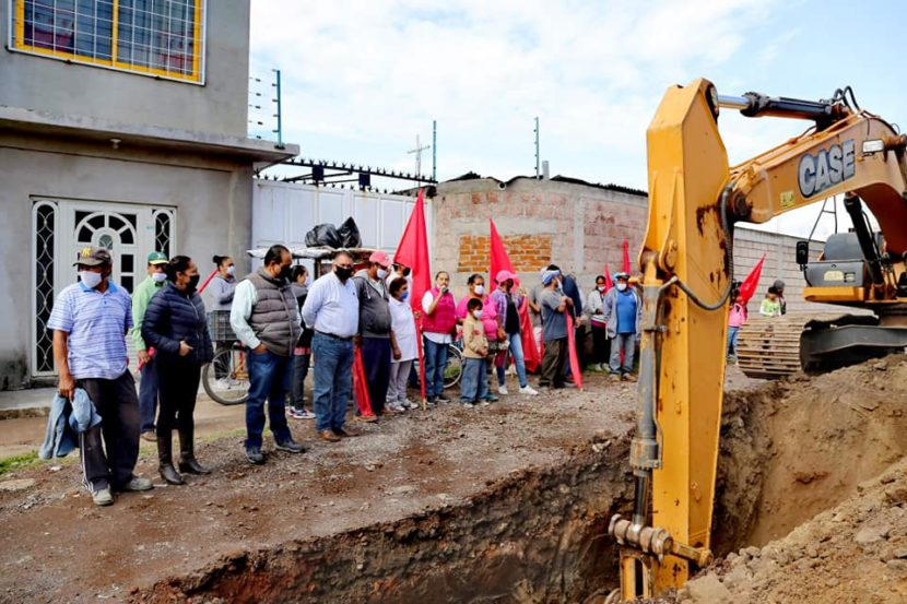 Jaime Hinojosa arranca importante obra de ampliación de drenaje en Maravatío