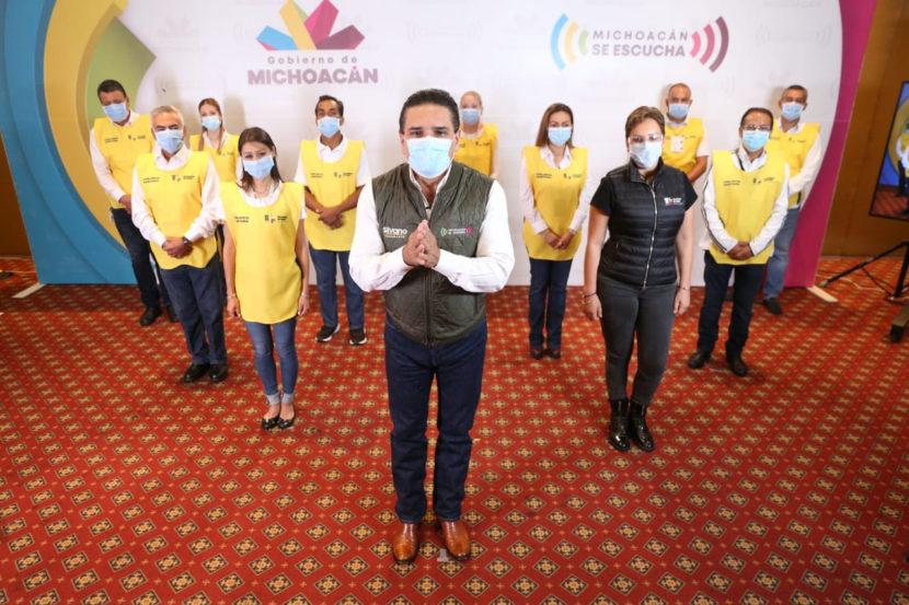 Silvano Aureoles presentó a los Guardianes de la Salud, vigilarán cumplimiento de normas sanitarias