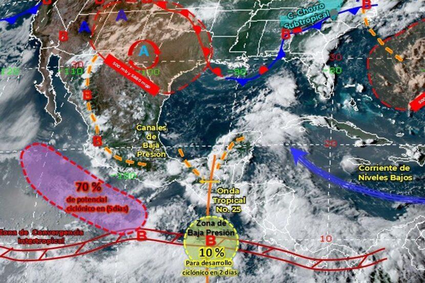 Ante la formación de un ciclón tropical en el pacífico, se esperan lluvias fuertes para Michoacán