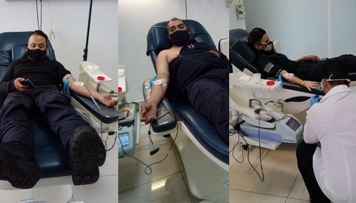 Policías de Zitácuaro donan sangre para niña que se encuentra internada en Morelia