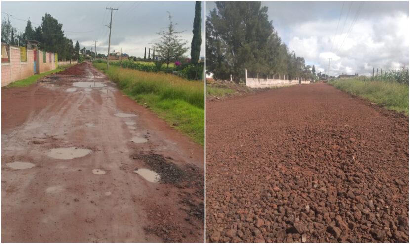 Ayuntamiento de Maravatío sigue con mantenimiento de calles en comunidades y colonias
