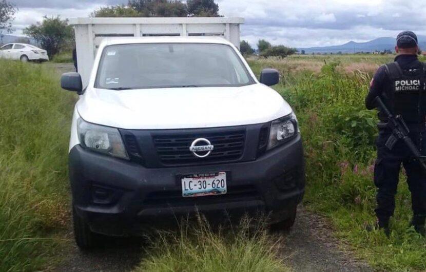 SSP asegura camioneta con reporte de robo en Maravatío