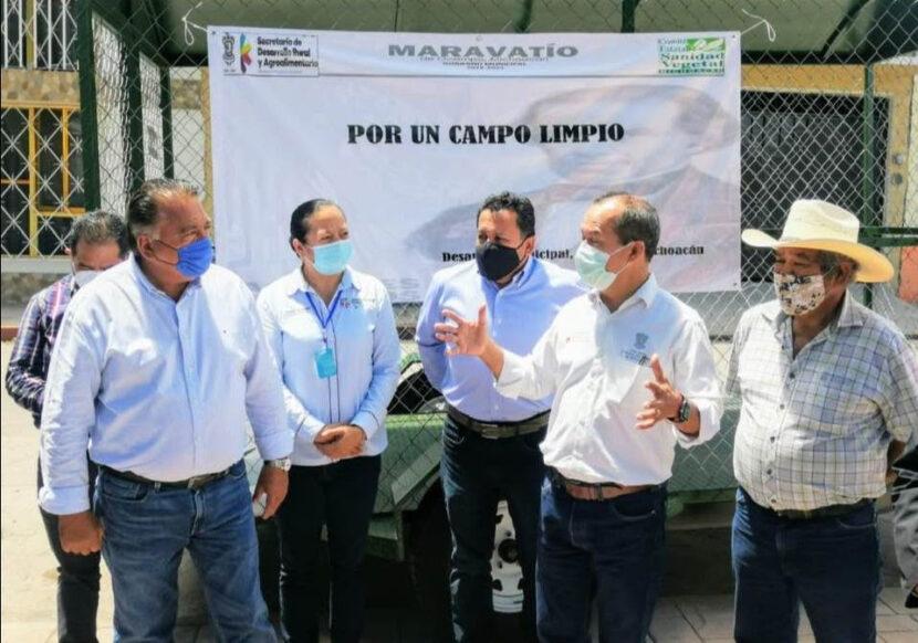 Sedrua entrega Centro de Acopio Primario para la recolección de envases vacíos de plaguicidas en Maravatío