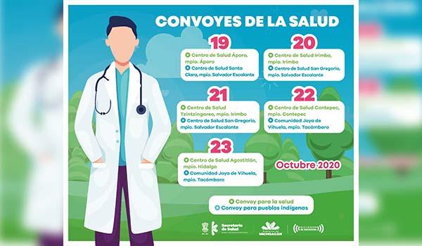 Convoyes de la Salud estarán en estos municipios del Oriente