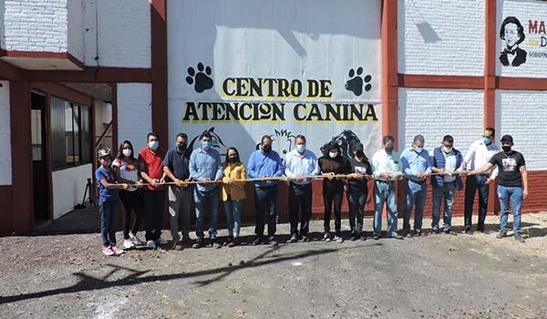 Jaime Hinojosa inaugura el Centro de Atención Canina de Maravatío