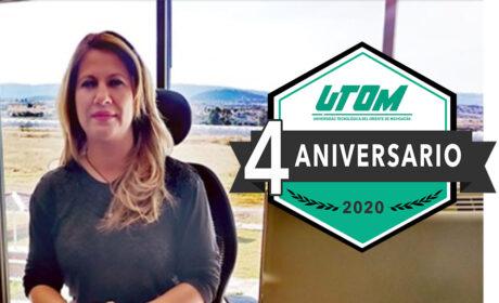 UTOM celebra su 4to Aniversario, la Rectora Mayra Vanesa Mejía Granados invita a disfrutar de las actividades en línea