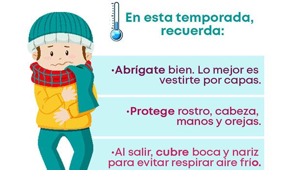 Ante condiciones de frío durante madrugadas y noches, pide PC estatal tomar medidas preventivas