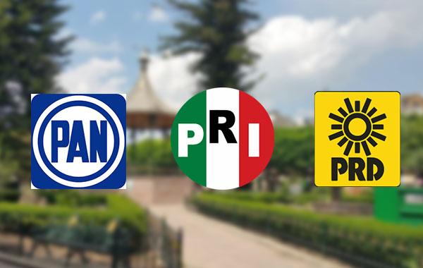 PAN, PRI y PRD irán juntos en candidatura común para la alcaldía y diputación local de Maravatío
