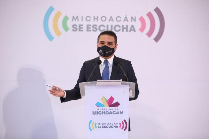 Silvano Aureoles advierte de confinamiento obligatorio y aumentar los días de cierre de comercios por incremento de contagios de Covid19